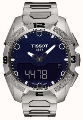 Tissot Chrono d'alarme solaire homme t-touch titane expert T0914204404100