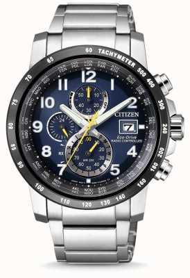 Citizen Chronographe mondial à chronographe radio-pilotée pour homme AT8124-91L