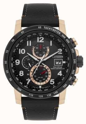 Citizen H800 radiocommandé pour homme au chronographe perpétuel IP noir et or rose AT8126-02E