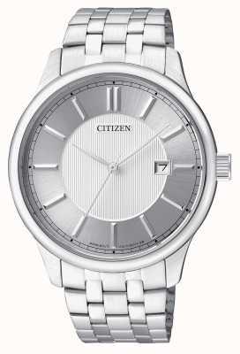 Citizen Affichage de la date de conception minimaliste en acier inoxydable quartz pour homme BI1050-56A
