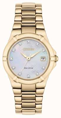 Citizen Cadran diamant femme eco-drive plaqué or rose EW1533-50D