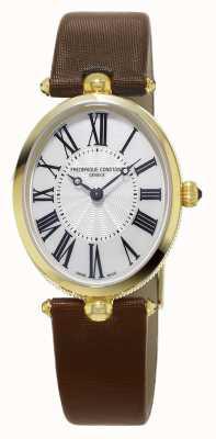 Frederique Constant Bracelet en cuir marron Classics art déco FC-200MPW2V5