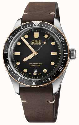 Oris Bracelet en cuir marron Divers soixante-cinq 01 733 7707 4354-07 5 20 55