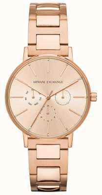 Armani Exchange Lola Femme Or Rose Plaqué Or AX5552