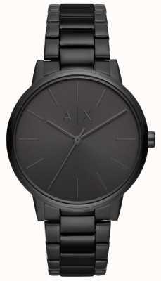 Armani Exchange Bracelet plaqué Cayde mens pvd noir AX2701