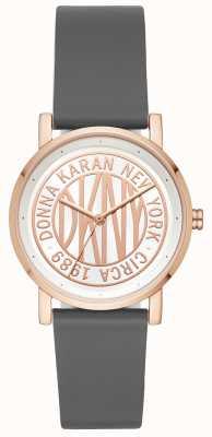 DKNY Bracelet en cuir gris femme Soho NY2764