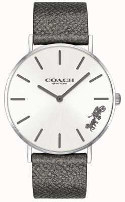 Coach Montre femme en cuir gris perry 14503155