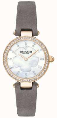 Coach Bracelet en cuir gris de luxe moderne pour femme 14503104