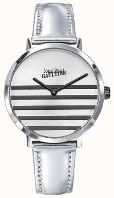 Jean Paul Gaultier Montre en cuir argenté pour femme JP8505607
