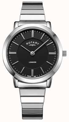 Rotary Montre bracelet en acier inoxydable london pour femme LB00765/04