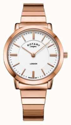 Rotary Montre bracelet en acier london pour femmes en acier rose LB00767/02