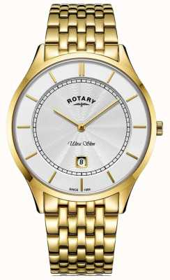 Rotary Bracelet ultra-fin plaqué or pour homme GB08413/02