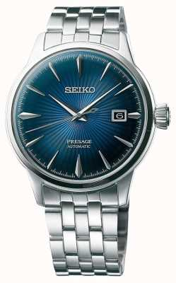 Seiko Bracelet en acier inoxydable automatique Presage Cadran bleu SRPB41J1