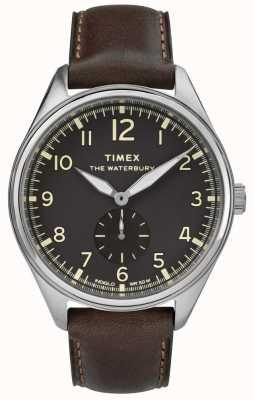 Timex Mens waterbury traditionnel noir cadran noir en cuir TW2R88800