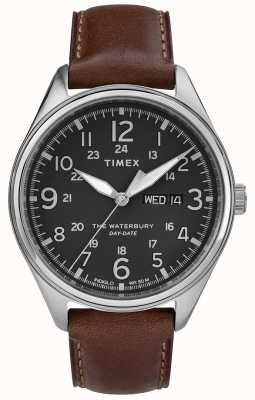 Timex Mens waterbury traditionnel jour date noir brun TW2R89000