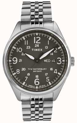 Timex Mens waterbury traditionnel date en acier noir TW2R89300