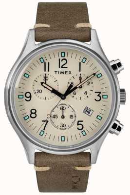 Timex Boitier homme mk1 sst chrono 42mm bracelet en cuir marron TW2R96400