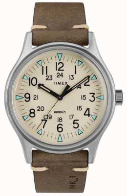 Timex Bracelet homme en cuir marron mk1 sst chrono 40mm TW2R96800