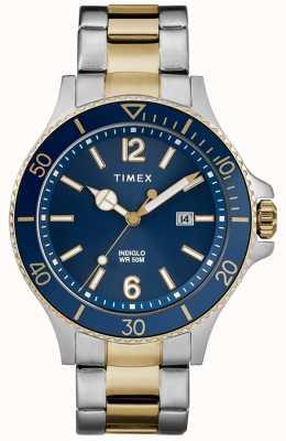 Timex Bracelet homme bicolore bleu et argenté au port TW2R64700D7PF