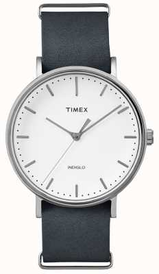 Timex Fairfield bracelet noir montre à 3 mains TWF3C8140UK