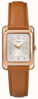 Timex Cadran en cuir beige pour femme TW2R89500D7PF