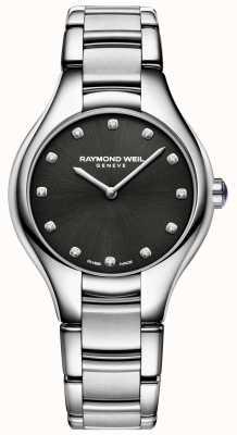 Raymond Weil Cadran en diamants noirs noemia pour femmes 5132-ST-20081