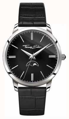 Thomas Sabo Homme rebel chez coeur esprit moonphase montre cuir noir WA0325-218-203-42