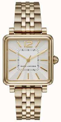 Marc Jacobs Montre femme avec bracelet en or et cadran carré MJ3462