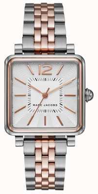 Marc Jacobs Femmes vic montre bracelet deux tons cadran carré MJ3463