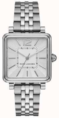Marc Jacobs Montre femme avec bracelet en argent et cadran carré MJ3461
