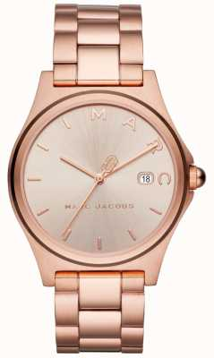 Marc Jacobs Montre henry femme ton or rose MJ3585