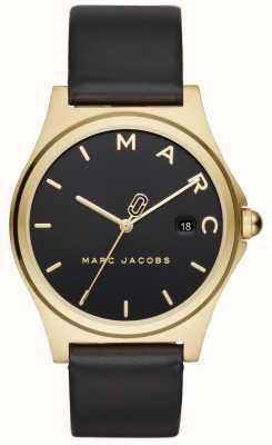 Marc Jacobs Bracelet en cuir noir pour femme MJ1608