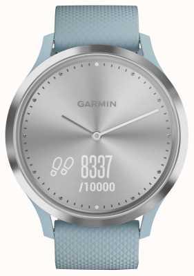 Garmin Cadran d'activité Vivomove hr bleu en caoutchouc cadran argent 010-01850-08