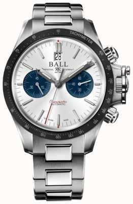 Ball Watch Company Cadran chronographe 42mm argenté Ingénieur hydrocarbure CM2198C-S1CJ-SL