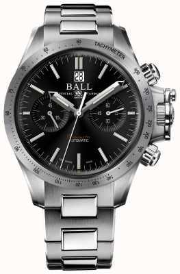 Ball Watch Company Cadran chronographe noir de 42 mm pour ingénieur hydrocarbon racer CM2198C-S2CJ-BK