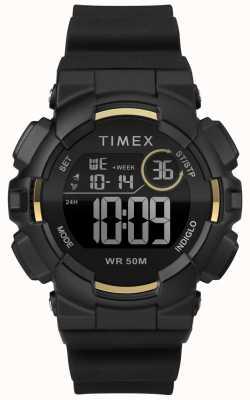 Timex Sacoche noire pour femme, 44 mm TW5M23600