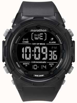 Timex Bracelet noir pour homme, boîtier noir 50 mm TW5M22300