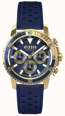 Versus Versace Cadran en cuir bleu pour homme aberdeen bleu S30020017