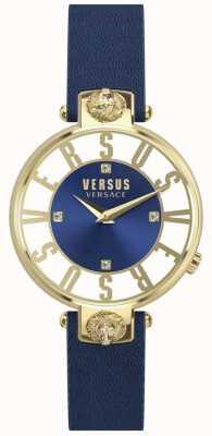 Versus Versace Bracelet en cuir bleu kristenhof pour femme SP49020018