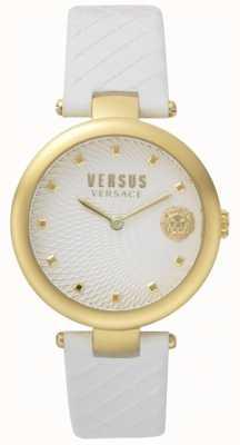 Versus Versace Bracelet femme en cuir blanc cadran blanc SP87020018