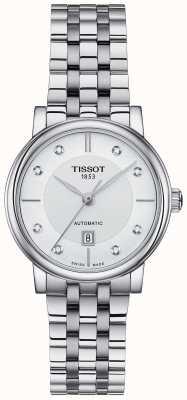 Tissot Ensemble de cristaux en acier inoxydable automatique Carson pour femmes T1222071103600