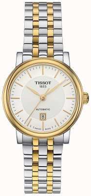 Tissot Womens carson automatique deux tons en acier inoxydable T1222072203100