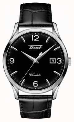Tissot Cadran noir en cuir noir de cuir T1184101605700