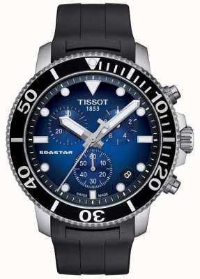 Tissot Mens seastar 1000 chronographe à quartz en acier inoxydable T1204171704100