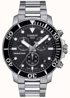 Tissot Chronographe à quartz Seastar 1000 pour homme noir / acier inoxydable T1204171105100