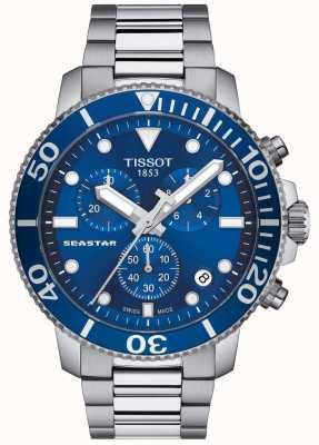 Tissot Seastar 1000 quartz chronographe homme bleu / acier inoxydable T1204171104100