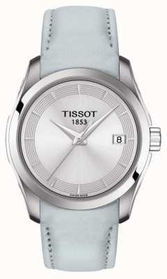 Tissot Bracelet couturier bleu clair pour femme T0352101603102