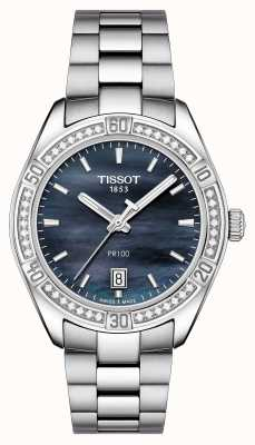 Tissot Womens pr 100 sport chic 36mm acier inoxydable bleu T1019106112100