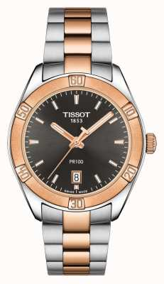 Tissot Femmes pr 100 sport chic cadran noir deux tons 36mm T1019102206100