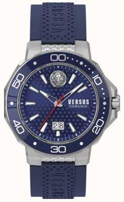 Versus Versace Bracelet kalk bay en acier inoxydable pour hommes avec cadran bleu VSP05020018